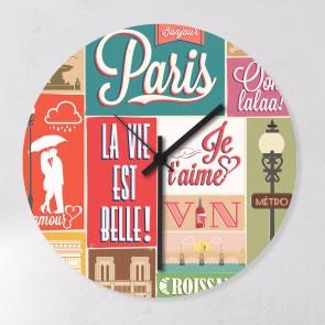 Motiv Uhr Paris