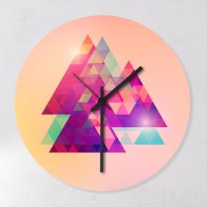 Motiv Uhr Trianglemuster
