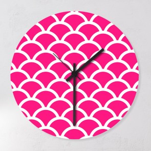 Motiv Wanduhr pink