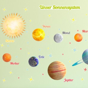 Wandsticker Set XL - Planeten