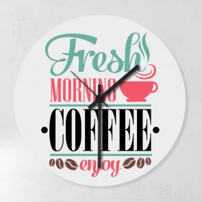 Motiv Uhr Fresh Morning Coffee