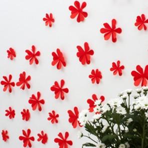 Wandtattoo 3D - Blumen rot
