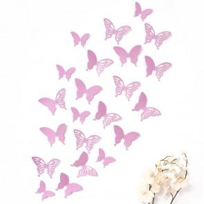 Wandtattoo 3D - Schmetterlinge flieder mit Ornamenten / Muster
