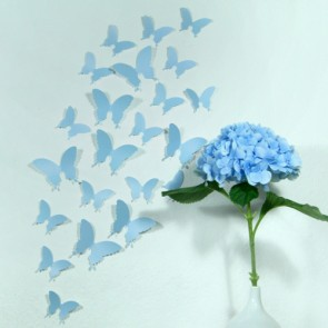 Wandtattoo 3D - Schmetterlinge Hellblau