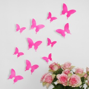 Wandtattoo 3D - Schmetterlinge neon pink