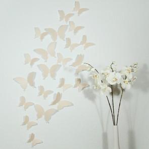 Wandtattoo 3D - Schmetterlinge beige