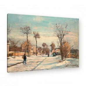 Straße von Louveciennes im Schnee von Pissarro