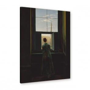 Caspar David Friedrich - Frau am Fenster