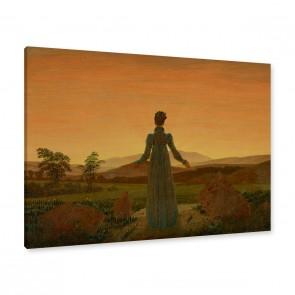 Gemälde Frau Sonnenuntergang