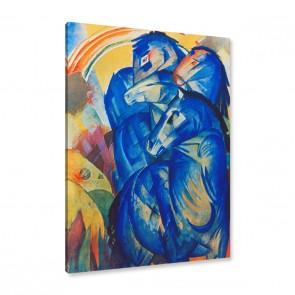 Marc Turm der blauen Pferde Leinwandbild