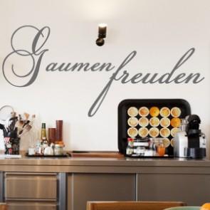 Wandtattoo Spruch - Gaumenfreuden