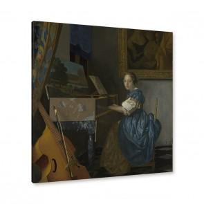 Jan Vermeer - junge Frau an einem Virginal sitzend