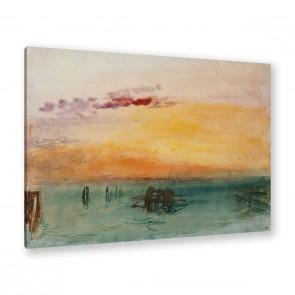 Venedig von Fusina aus gesehen von Jospeh Mallord Turner als Leinwandbild