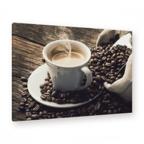 Leinwandbild - Kaffe - Coffee - Bean - Cup of joe -