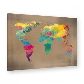 Leinwandbild - World - Worldmap - Welt - Weltkarte - Globus - Atlas