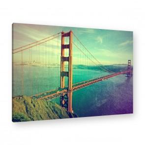 Leinwandbild - Bridge - USA - Amerika - City - Liberty