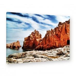 Leinwandbild - Hell Stones - Klippe - Canyon