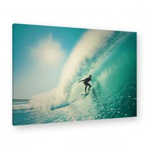 Leinwandbild - The perfect wave - Welle - Wasser - Surfer