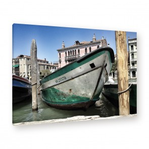 Leinwandbild - Stadt - Wasser - Schiff - Kutter