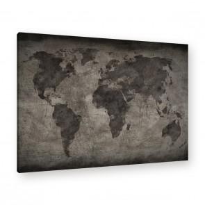 Leinwandbild - Welt - Weltkarte - World - World map Old