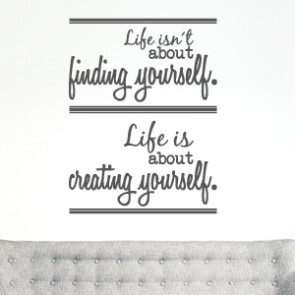 Wandtattoo Spruch - Life isn´t about finding yourself ...