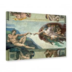 Die Erschaffung des Adam von Michelangelo als Leinwandbild