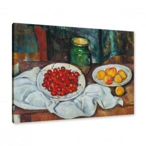 Paul Cézanne - Stillleben mit Kirschen und Pfirsichen