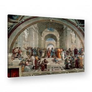 die Schule von Athen von Raffael als Leinwandbild