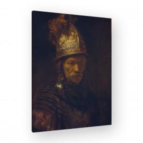 der Mann mit dem Goldhelm von Rembrandt als Leinwandbild