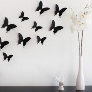Wandtattoo 3D - Schmetterlinge schwarz