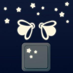 Leuchtaufkleber für Lichtschalter - Glühwürmchen Set