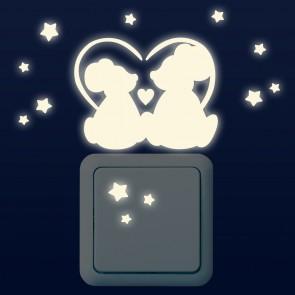 Leuchtaufkleber für Lichtschalter - Mäuschen Set
