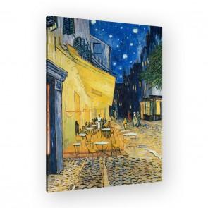 Café Terrasse am Abend von Van Gogh als Leinwandbild