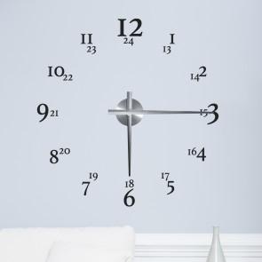Wandtattoo Uhr