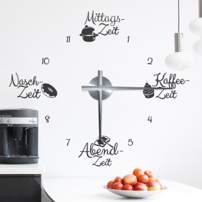 Wandtattoo Uhr - Eat around the clock