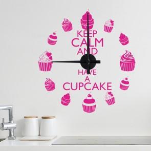 Wandtattoo Uhr - Have a Cupcake