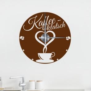 Wandtattoo Uhr Kaffee