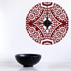 Wandtattoo Uhr - Orientalisch