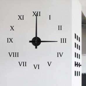 Wandtattoo Uhr - römische Zahlen