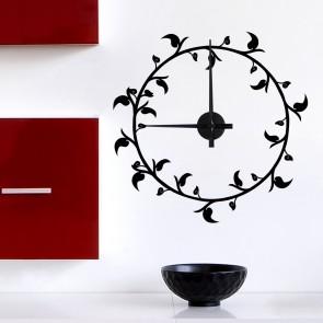 Wandtattoo Uhr - Schnörkeluhr