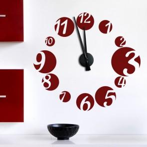 Wandtattoo Uhr - Zahlen Bubbles