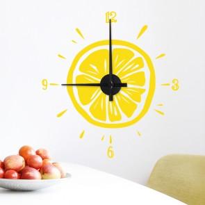 Wandtattoo Uhr - Zitrone