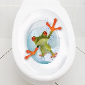 WC Aufkleber crazy Frosch