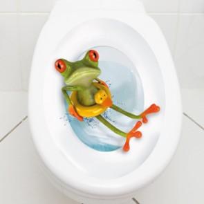WC Aufkleber Frosch mit Rettungsring