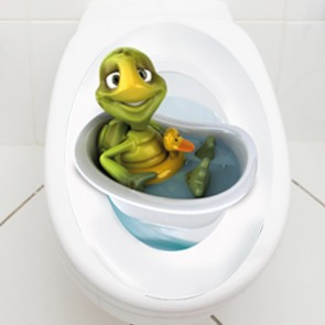WC Aufkleber Schildkröte in Badewanne