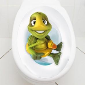 WC Aufkleber Schildkröte mit Schwimmring