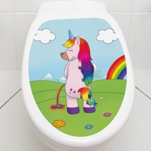 Toilettendeckel Einhorn Pee