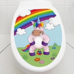 WC aufkleber Einhorn poop