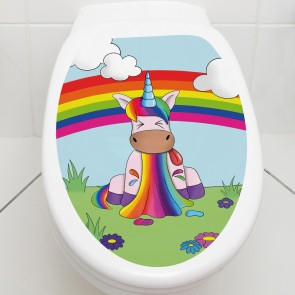 Toilettendeckel Einhorn Puke