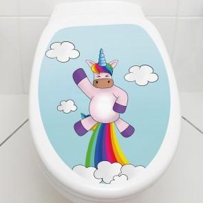 Toilettendeckel Einhorn Rocket